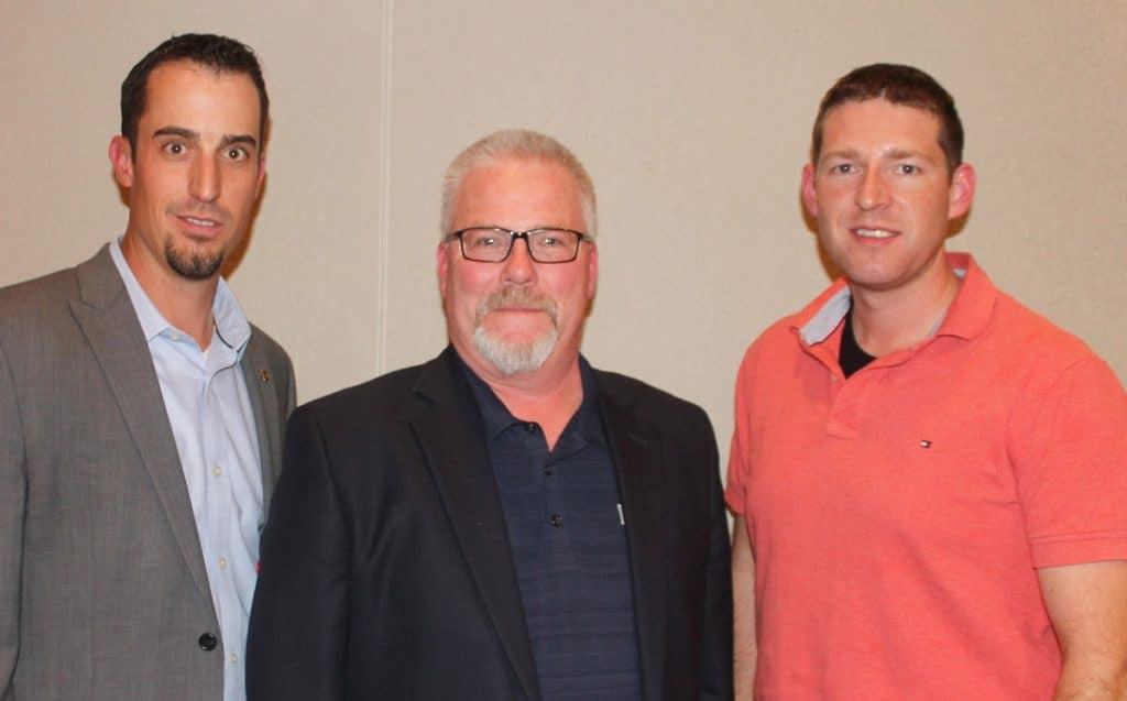 Pictured (L-R): Dr. Nick Lemmel, Dr. Robert Rust (AgriLabs) and Dr. Matt Weeman