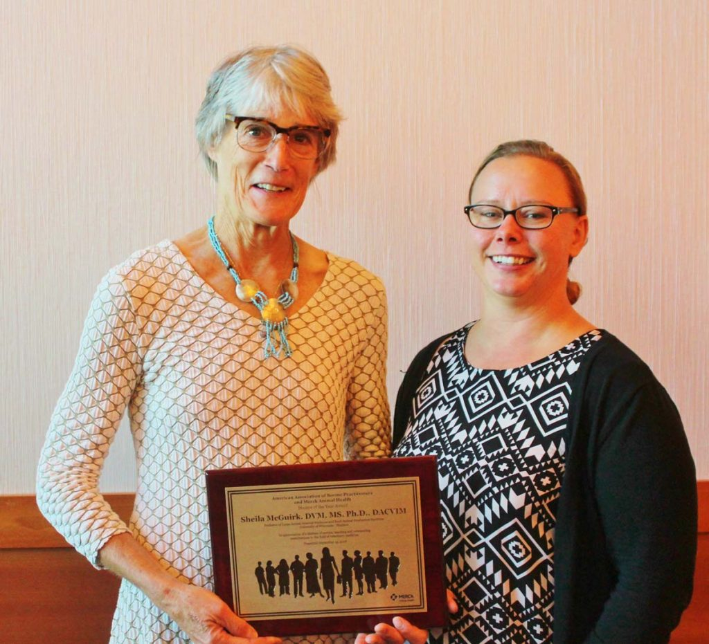 Pictured, Dr. Sheila McGuirk (left) and Dr. Terri Ollivett