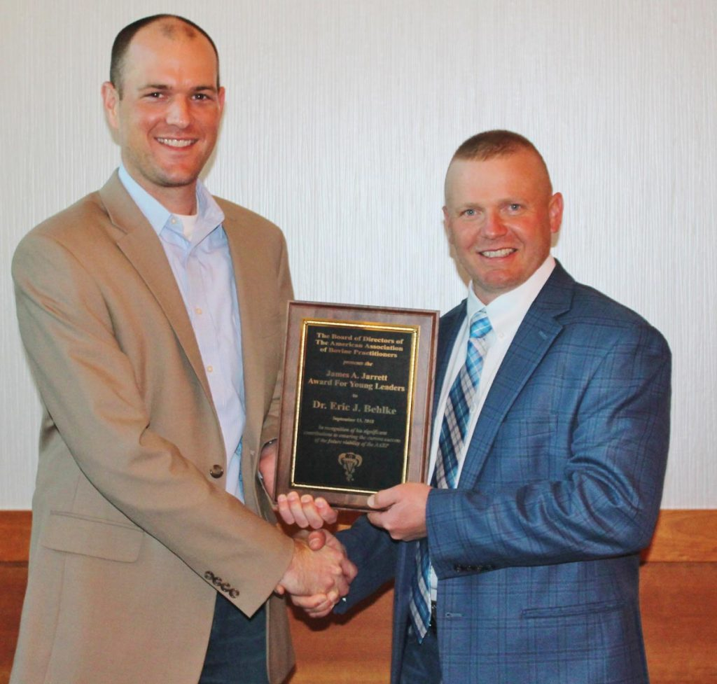 Pictured, Dr. Holt Tripp (left) and Dr. Eric Behlke