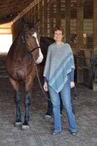 Christine Merle with a horse