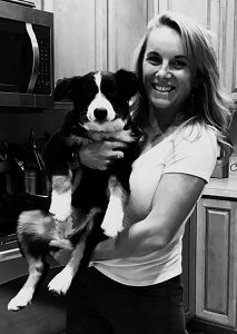 Photo of Becky Oldfield and Dog.