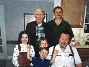 Group photo of Flickinger family.