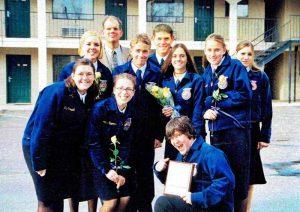 Photo of Austin Zimmerman's FFA high school classmates