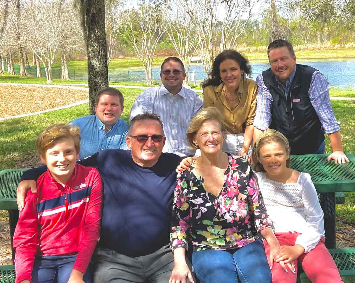 Photo of Nutramax's Paull Brennan and his extended family.