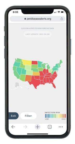 Parasite Forecast Map